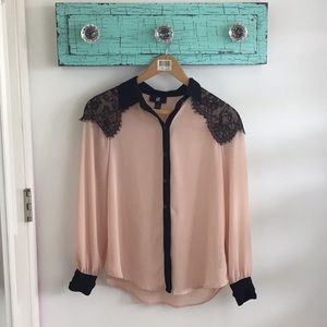 Tops - Pink&Black Blouse